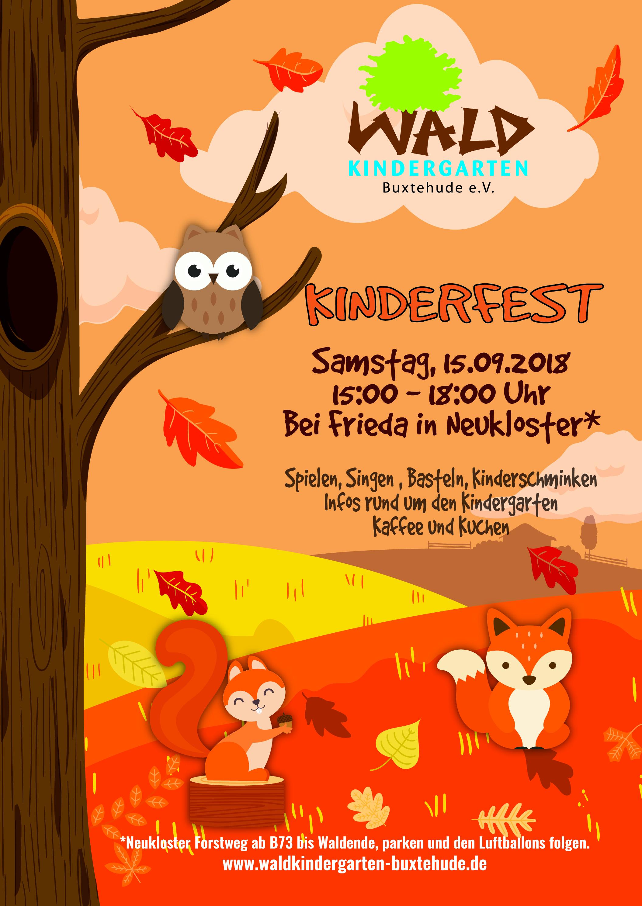 Kinderfest im Herbst Waldkindergarten Buxtehude